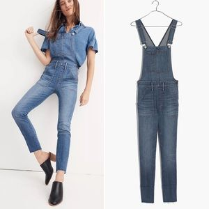 MADEWELL Jeans Skinny Overalls in Medium Kemp Wash